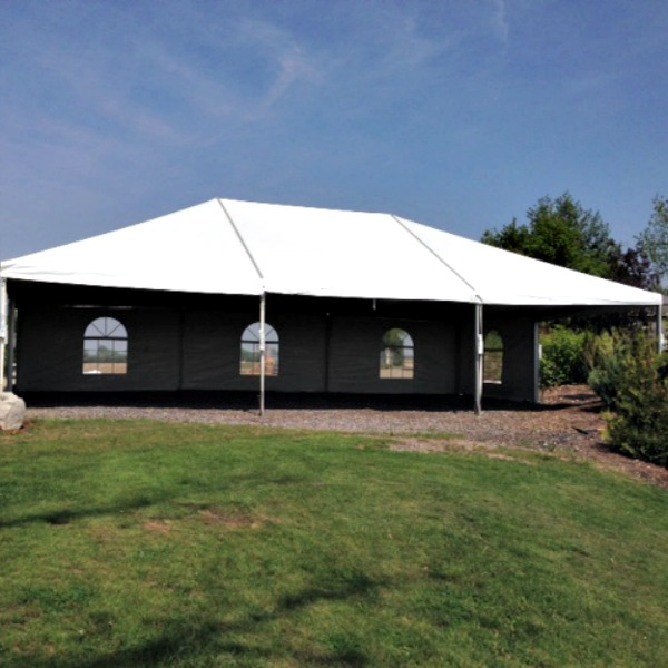 white frame tent 30 39 x 45 39 a b party rental. Black Bedroom Furniture Sets. Home Design Ideas