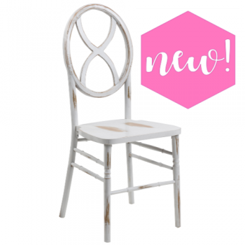 Sandglass White Wash Chair