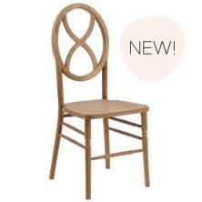 Raw Wood Sandglass Chair