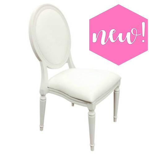 louis white ballroom chair