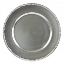 plastic silver charger plate