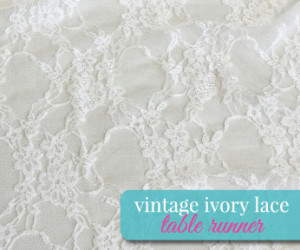Vintage Ivory Lace Table Runner